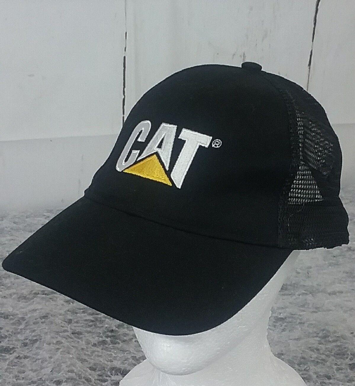 buy online 2978f ce724 promo code cat mesh hat snapback trucker caterpillar black hat mesh cap  59975b 68831 adb00