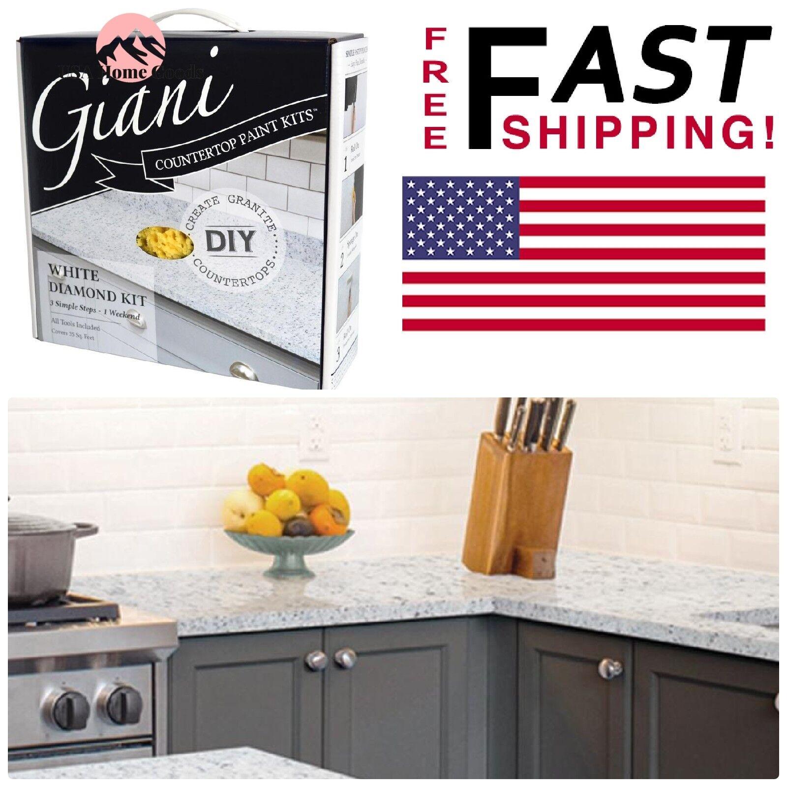 Giani Granite Countertop Paint Small Project Kit White Diamond Kitchen