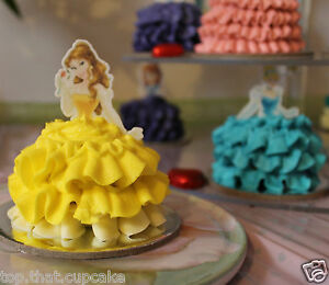 Belle Disney Princess half body EDIBLE wafer cupcake cake toppers