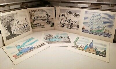 1950-59 Clever Eberhard Faber Pencil Co 1953/54 Iron Horse Train River Boat 7 Marketing Prints
