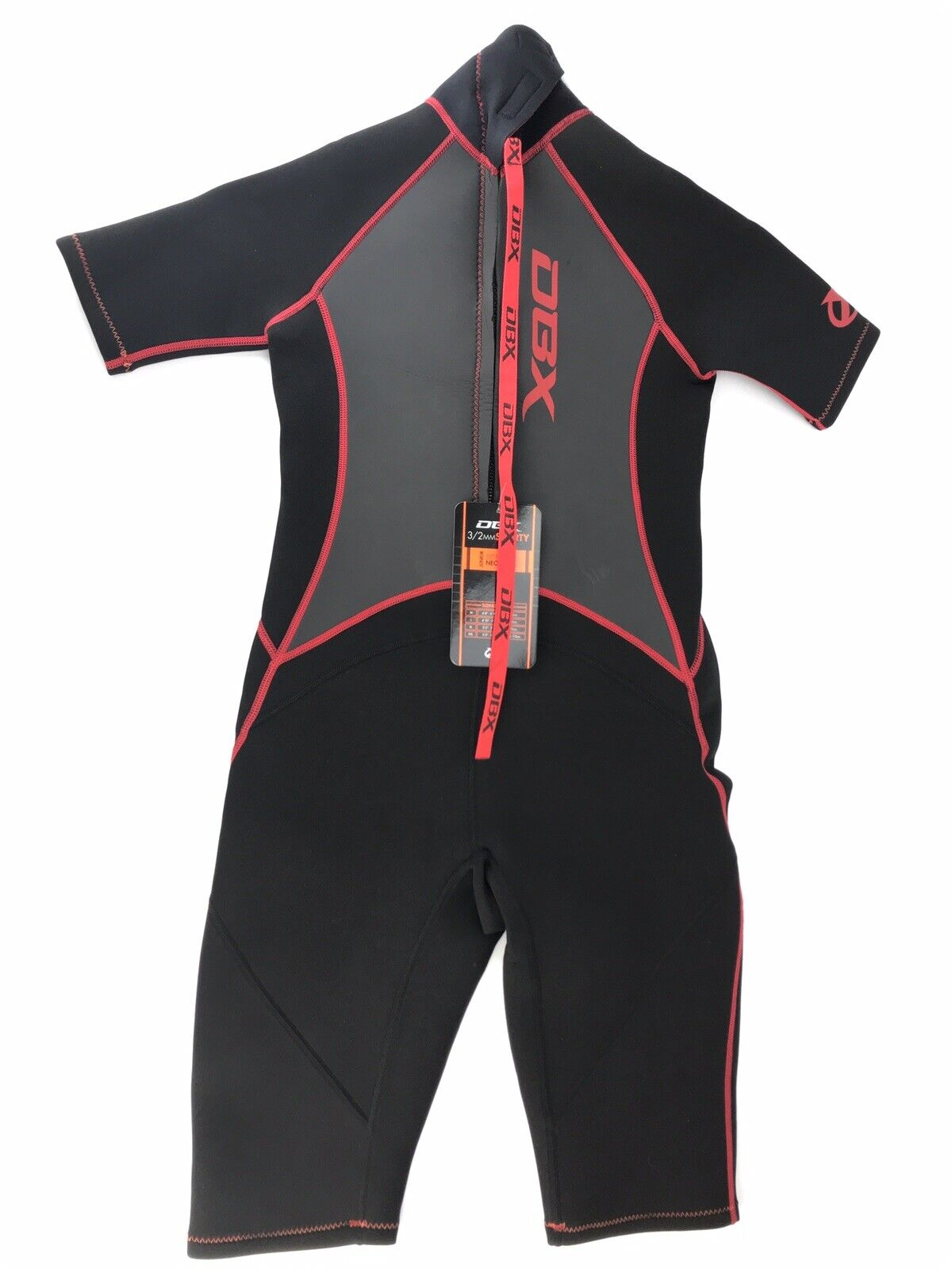 DBX Junior 3 2MM Shorty Super Stretch Neoprene Wetsuit Size L