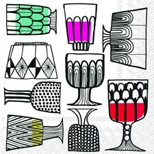 Marimekko KIPPIS Cups glasses paper lunch napkins new 20 in pack 33 cm sq