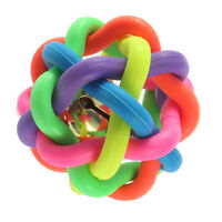 Dog Puppy Cat Pet Rainbow Colorful Rubber Bell Sound Ball Fun Playing Toy Ty