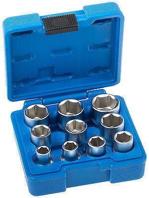 Zoll Werkzeug Set 10-tlg Steckschlüssel Satz Nüsse für Kfz Harley US-Cars Berlin
