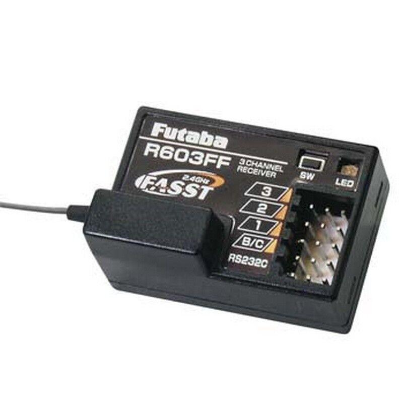 Futaba R603FF  2.4GHz FASST 3ch Receiver (radio 3PM,3PKS,3VCS,3GR,4PK,4PKS,4PKSR)  moda classica