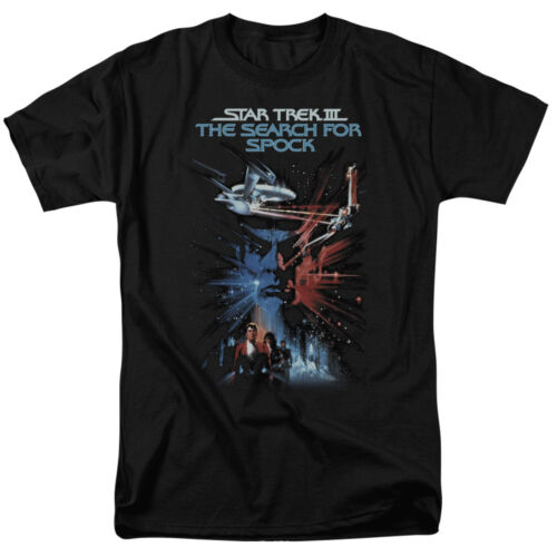 Star Trek SEARCH FOR SPOCK Movie Poster Licensed T-Shirt All Sizes