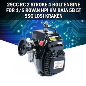 29CC-Rc-2-Stroke-4-Bolt-Engine-for-1-5-ROVAN-HPI-KM-Baja-5B-5T-5SC-LOSI-Kraken-K