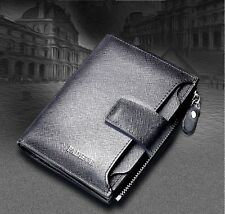 Superb genuine leather mens wallet organiser purse  mens real leather wallet 3pi