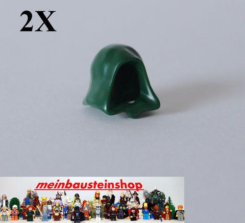 Lego® 2X Star Wars Jedi Kaputze Mütze Hood Kappe Dunkel Grün Dark Green 30381