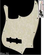 NEW PICKGUARD Jazz Bass aged pearl 3 ply pour Fender ou autre JBass