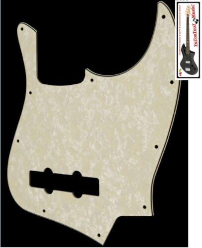 neu PICKGUARD Jazz Bass gealtert pearl 3 Lagen für Gitarre JBass