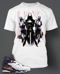 """b28aa1a36bf1b9 Walking Dead T-shirt To match Retro AIR JORDAN 8 """"THREE-PEAT"""" Size S ..."""