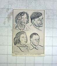 1928 Russian Workman Students As Seen By The Artist Radilov