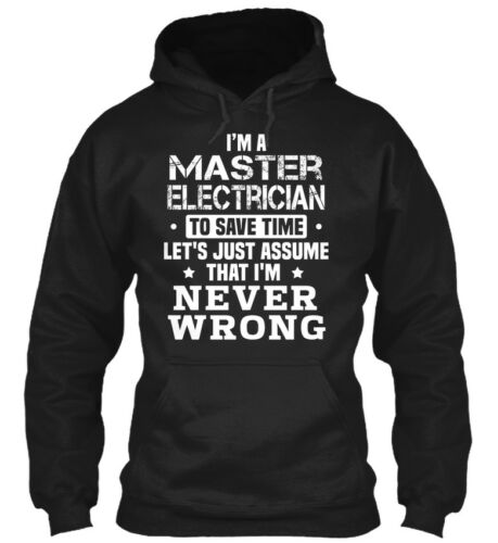 Premium Master Electrician I/'m A To Save Time Let/'s Gildan Hoodie Sweatshirt