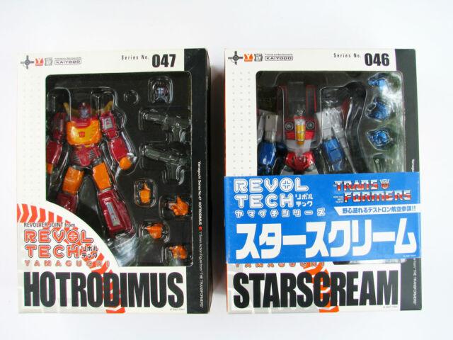 Revoltech Transformers STARSCREAM & HOT RODIMUS No47 46 Yamaguchi Kaiyodo Figure