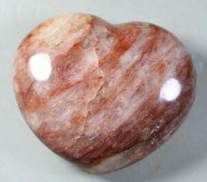 Natural-RED-FIRE-QUARTZ-Hematoid-Polished-Crystal-Reiki-Heart-Stone-Healing