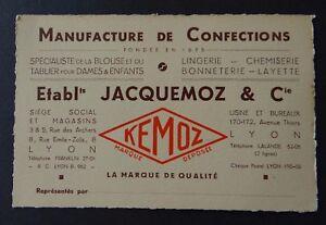 Carte De Visite JACQUEMOZ Amp Cie Blouse Tablier