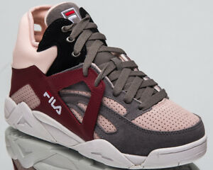 Details about Fila Women's Cage CB Mid Top Lifestyle Shoes Monument 2018  Sneakers 1010452-6QW
