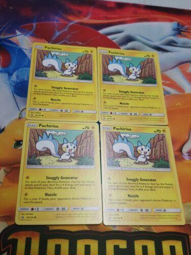 ☆ 4x Pokemon SM Ultra Prism Pachirisu 49//156 Non Holo Common TCG Card ☆