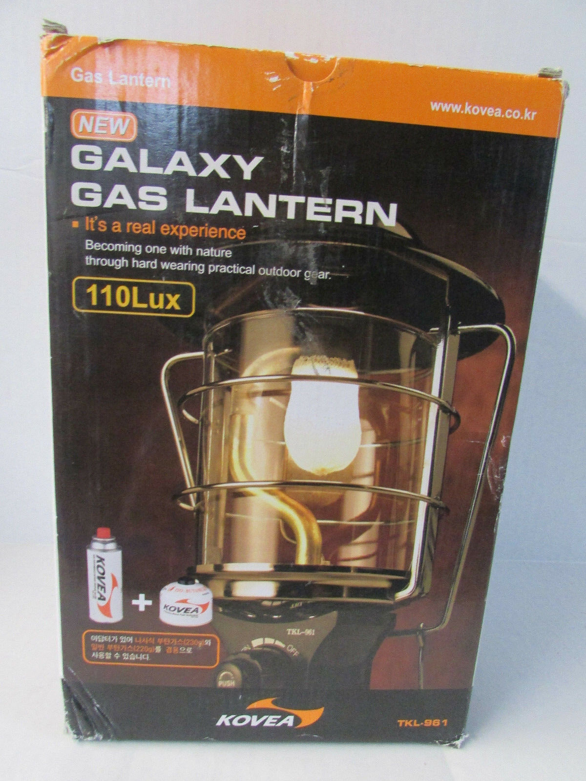 GALAXY GAS LANTERN-FOR OUT DOOR  ONLY-110 LUX - kOVEA - TKL - 961- NEW DAMAGE BOX  discount