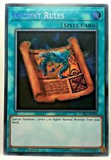 Ancient Rules LCKC-EN039 1st Secret Rare NM Yugioh Card