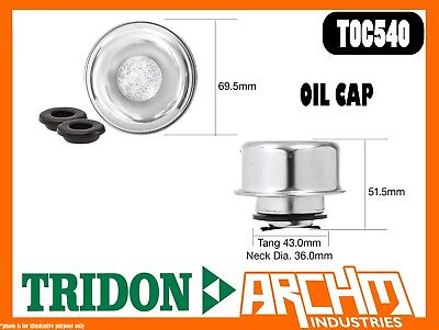 TOC540 Engine Oil Cap Metal bayonet breather Tridon