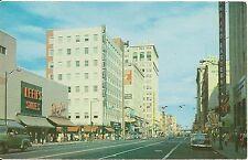 Scene on Riverside Avenue in Spokane WA Postcard