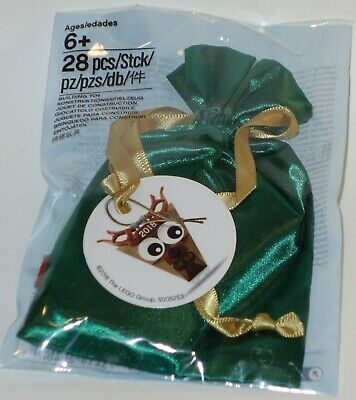 Lego Reindeer figure ornament with pouch new in bag 5005253 holiday deer