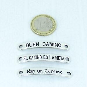 Lote-de-Chapas-Para-Pulsera-Plata-Tibetana-El-Camino-Plate-Frases-Perline-Perlen