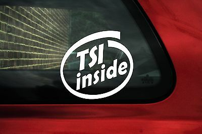 2x Tsi inside stickers. For VW Golf Mk6 Audi A3,seat leon