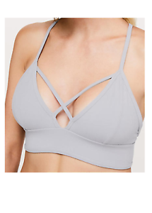 04c68bf7e0 Image is loading Lululemon-Radiant-Rhapsody-Bra-Sz-8-Lavender-Grey