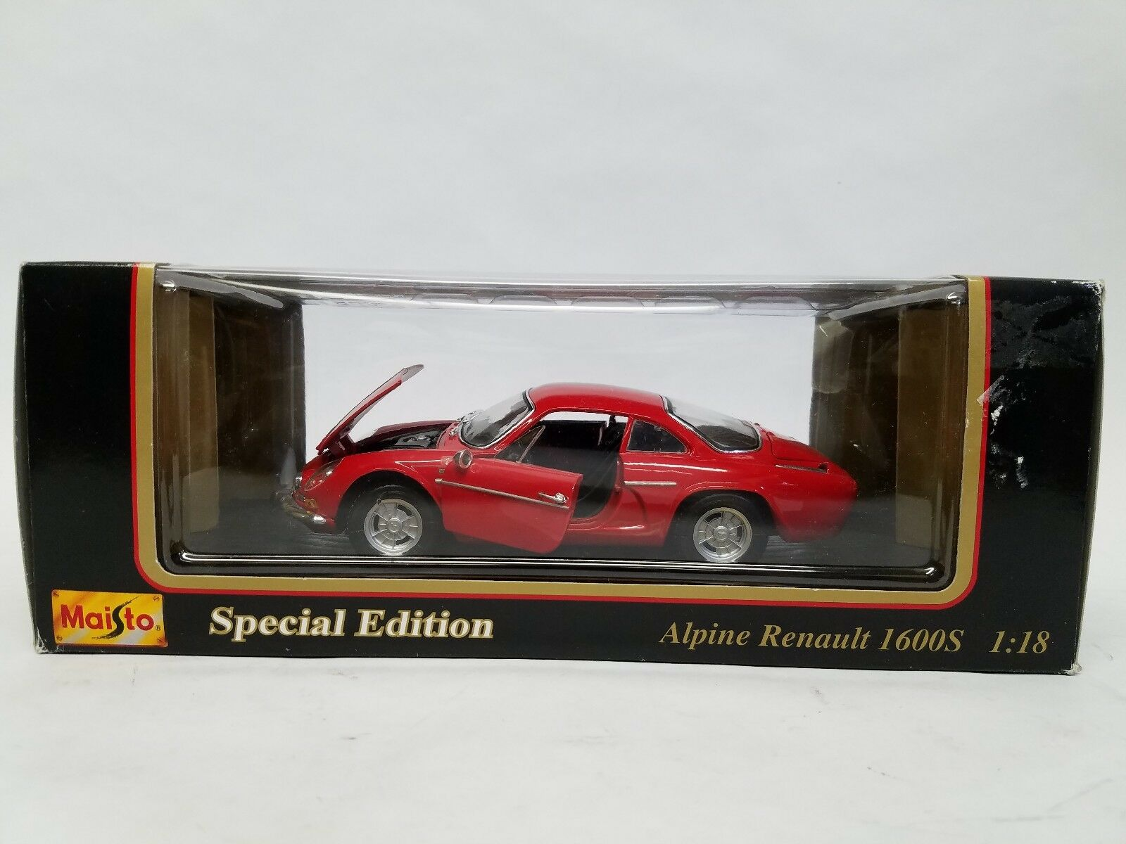 Maisto 1971 Alpine Renault 1600S 1600S 1600S Coupe Roadster RED 1 18 Scale Diecast Car 609aba