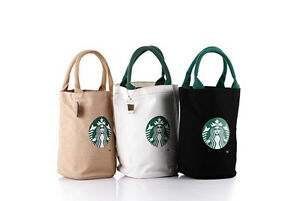 Image Is Loading Starbucks Canvas Tote Bag Handbag Barrel Shape Shoulder