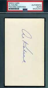 Al-Kaline-PSA-DNA-Coa-Autograph-Hand-Signed-3x5-Index-Card