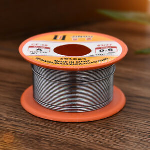 Fine Solder Wire 0.6mm 60//40 2/% Flux Reel Tube Tin lead Rosin Core Soldering 50G