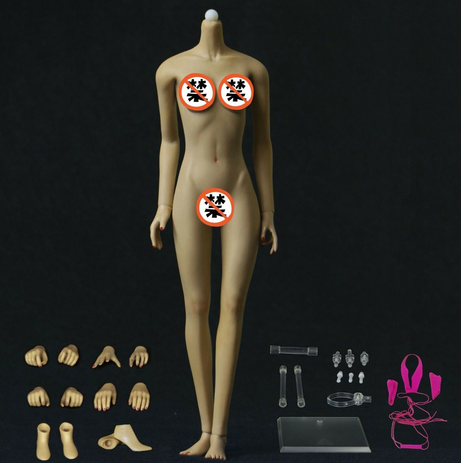 JIAOU DOLL 1 6 European Female Brown Body Model Dismantle Dismantle Dismantle Foot Figure JOQ-10E-BM 30b8d4