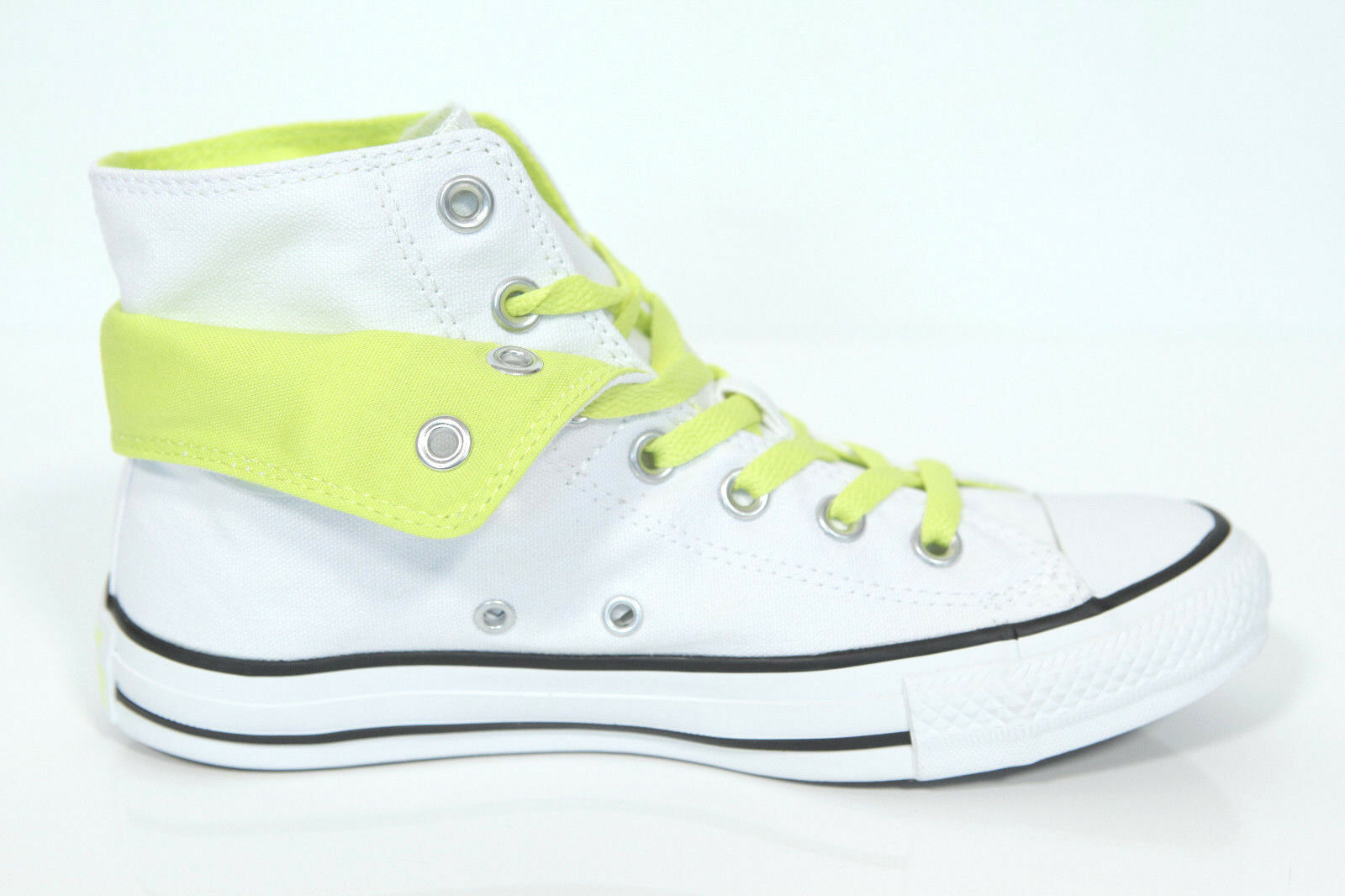 Neu All Star Converse Chucks Hi Two Fold weiß citron Sneaker 542590c Retro