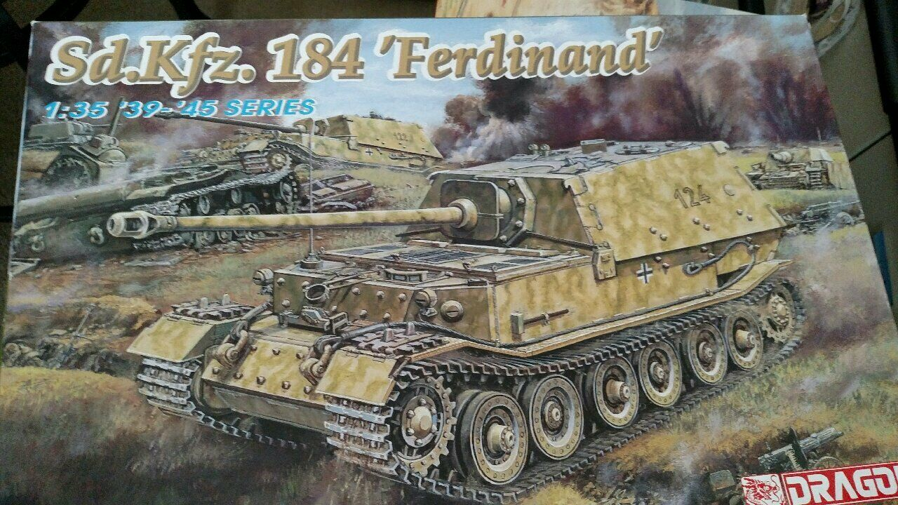 DRAGON KIT GERMAN SD.KFZ.184 FERDINAND 1 35 SCALE