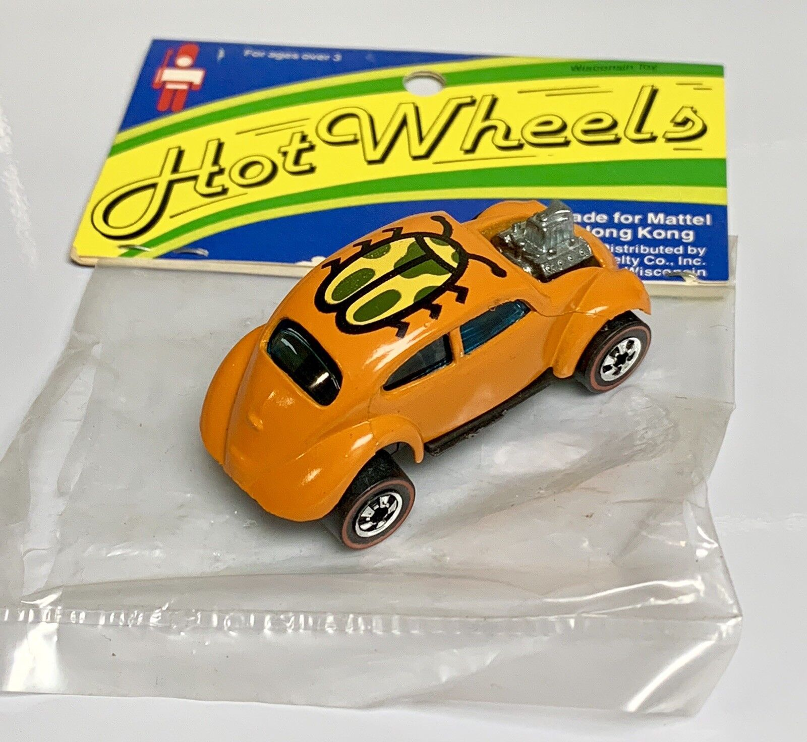 Wisconsin Toy VW Orange bug hot wheels rougeline Hong Kong Promo 1980 Presque comme neuf