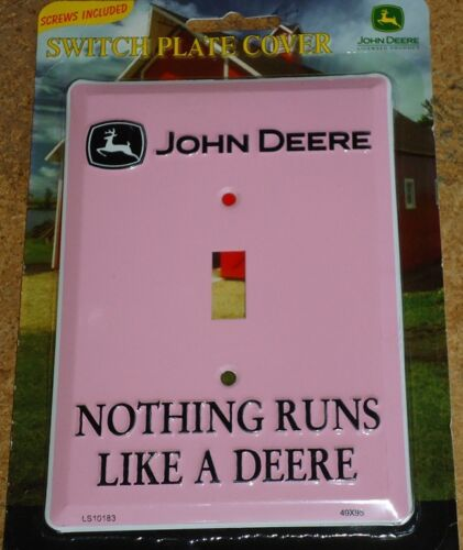 John deere tractor light switch cover plate kitchen Pink 4 mom cave garage shop