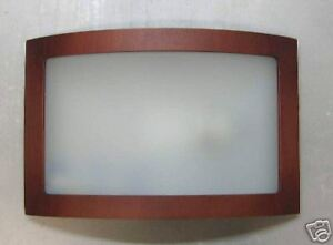 Plafoniere Con Bordo In Legno : Plafoniera con lastra vetro e bordo legno ciliegio med ebay