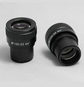 New-Pair-WF10X-22-Diopter-adjustable-Adjustable-Eyepieces-Microscope-30mm