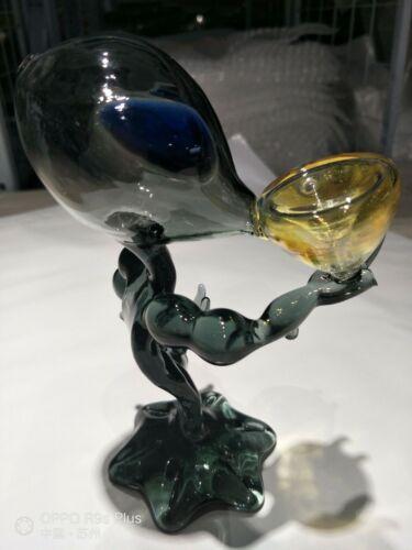 Alien hookah glass tube glass bong pipe pipe Gray black amber