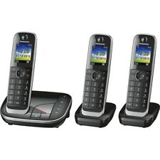 Panasonic KX-TGJ323GB black Schnurlostelefon-Set 3 Mobilteile Anrufbeantworter