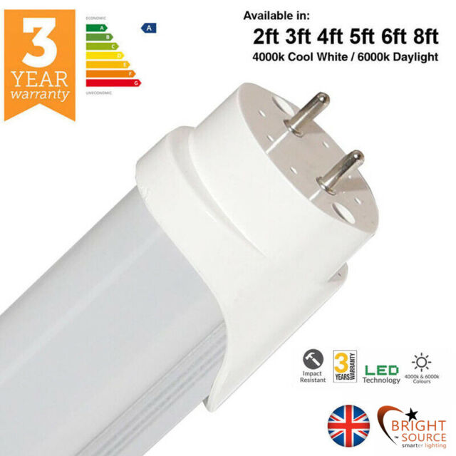25 x LED T8 Tube 5ft Retrofit Fluorescent Replacement Milky Cover White