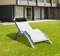 Adjustable Chaise Lounge Chair Sun Lounger Patio Outdoor Furniture Recliner on sale