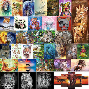5D-DIY-Full-Drill-Diamond-Painting-Deer-Cross-Stitch-Embroidery-Mosaic-Kit-Decor
