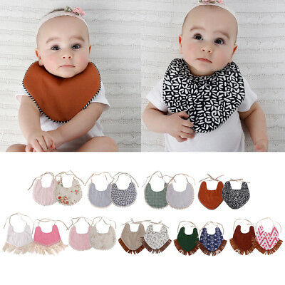 1PC Baby Boys Girls Bibs Saliva Towel Newborn Bandana Triangle Head Scarf LIN