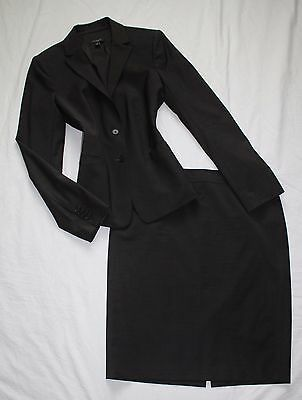 ANN TAYLOR Size 10 Women's Skirt Suit Dark Brown PERFECT!