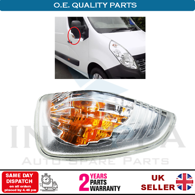 Side Mirror Turn Signal amber RIGHT RH Fits RENAULT Master OPEL NISSAN 2010